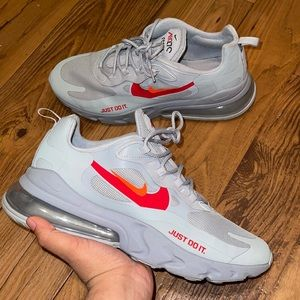 AIR MAX 270 REACT JUST DO IT WOLF GREY